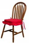 Almofada de cadeira com babado