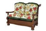 Almofada para sofá 1 botão e babado
